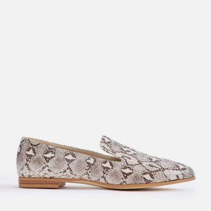 JUSTFAB Heartley Flats Loafers Neutral Snake Shoes